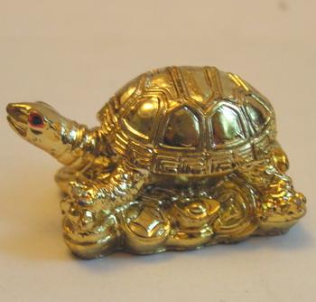 Черепаха мини под золото